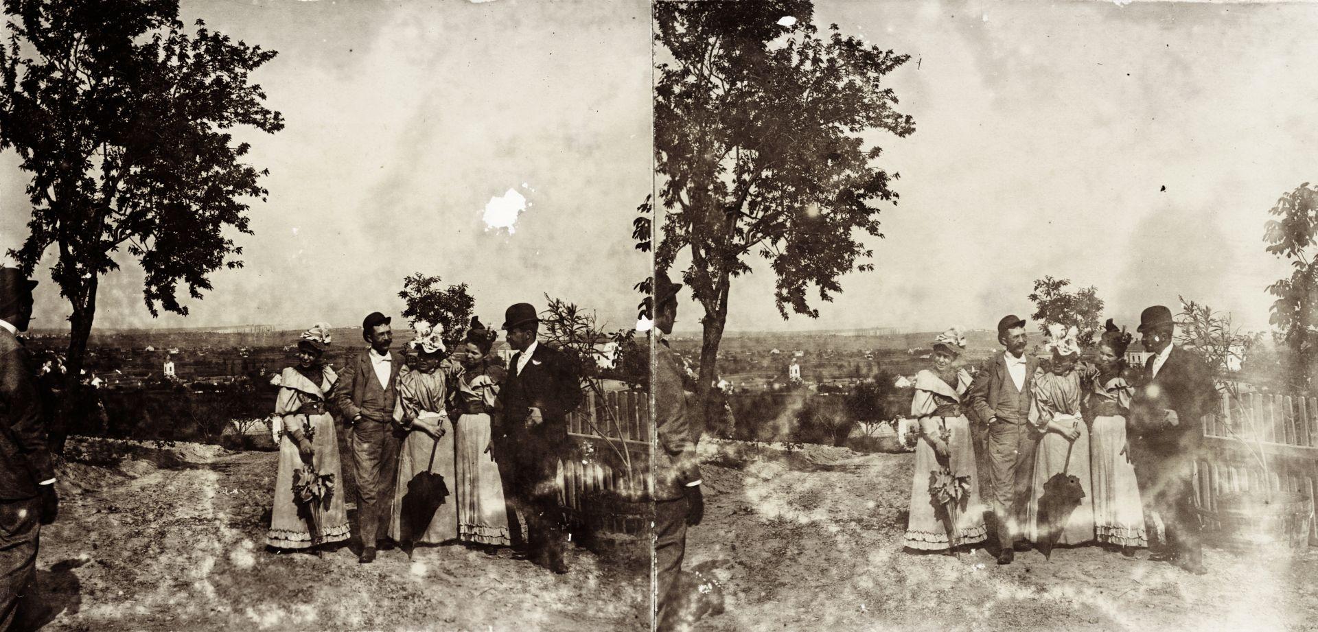 Kilátás az egykori Papsoka település Szent Mihály-templomának romjaitól a Balaton felé. A felvétel 1894-ben készült.