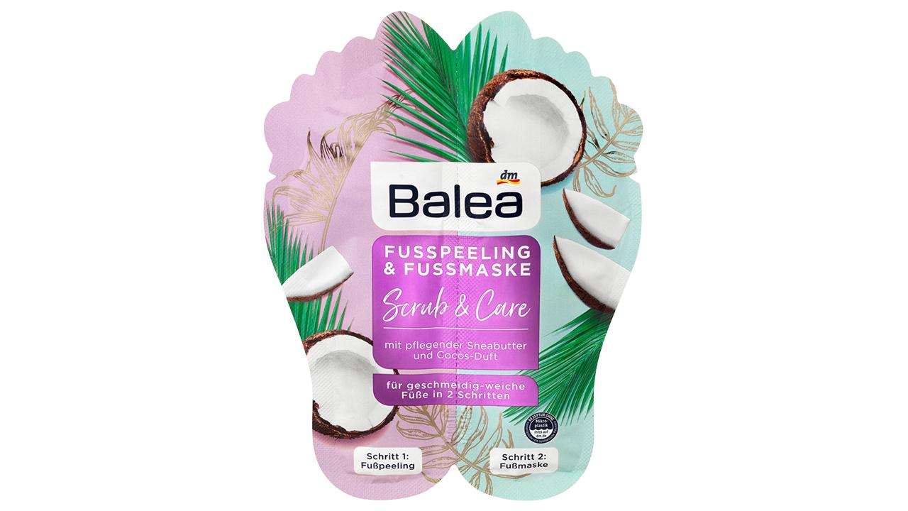 Balea Lábradír és lábmaszk sheavajjal és kókuszolajjal, kókuszillattal