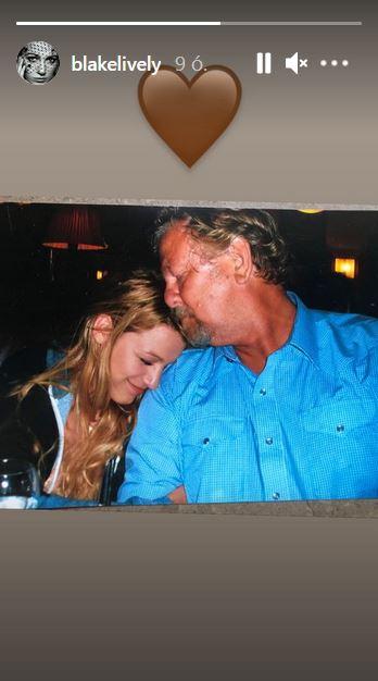 Blake Lively az édesapjától búcsúzik