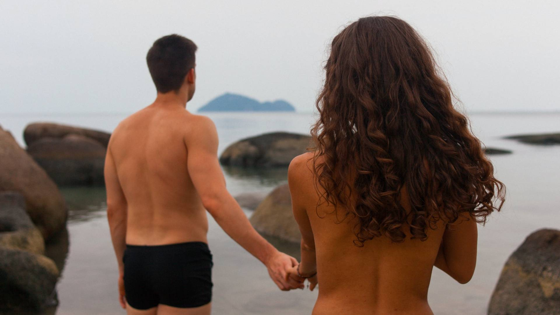 szexi férfi és nő