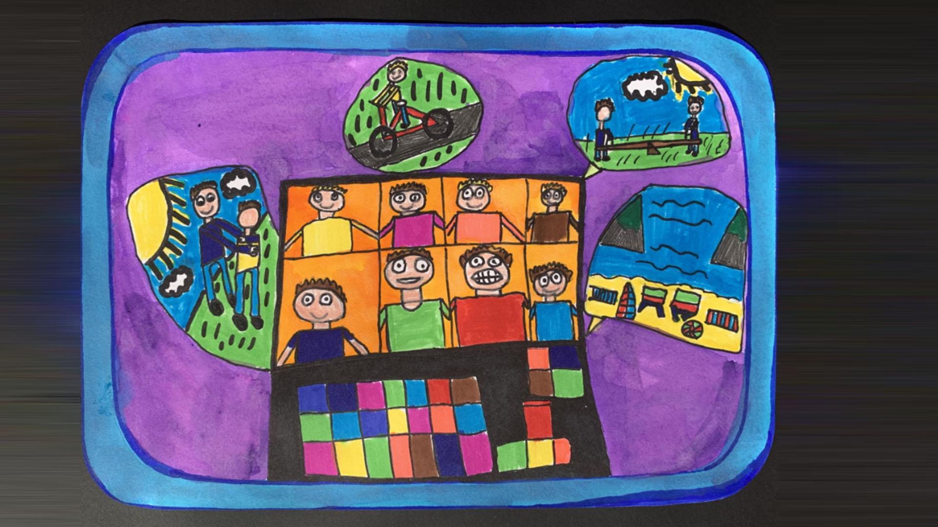 Iskolások kreatív alkotásai mutatják meg, hogyan élték meg a járványt