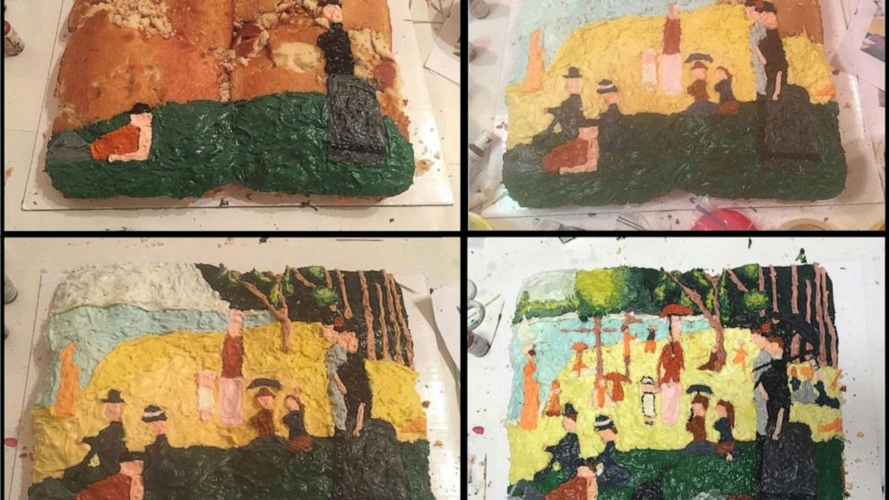 Vászon helyett piskóta: Így készülnek a süteményfestmények