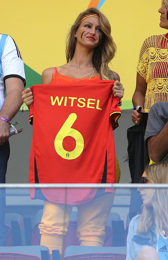 Rafaella Szabo 2014-ben Alex Witsel párjaként szurkolt Brazíliában