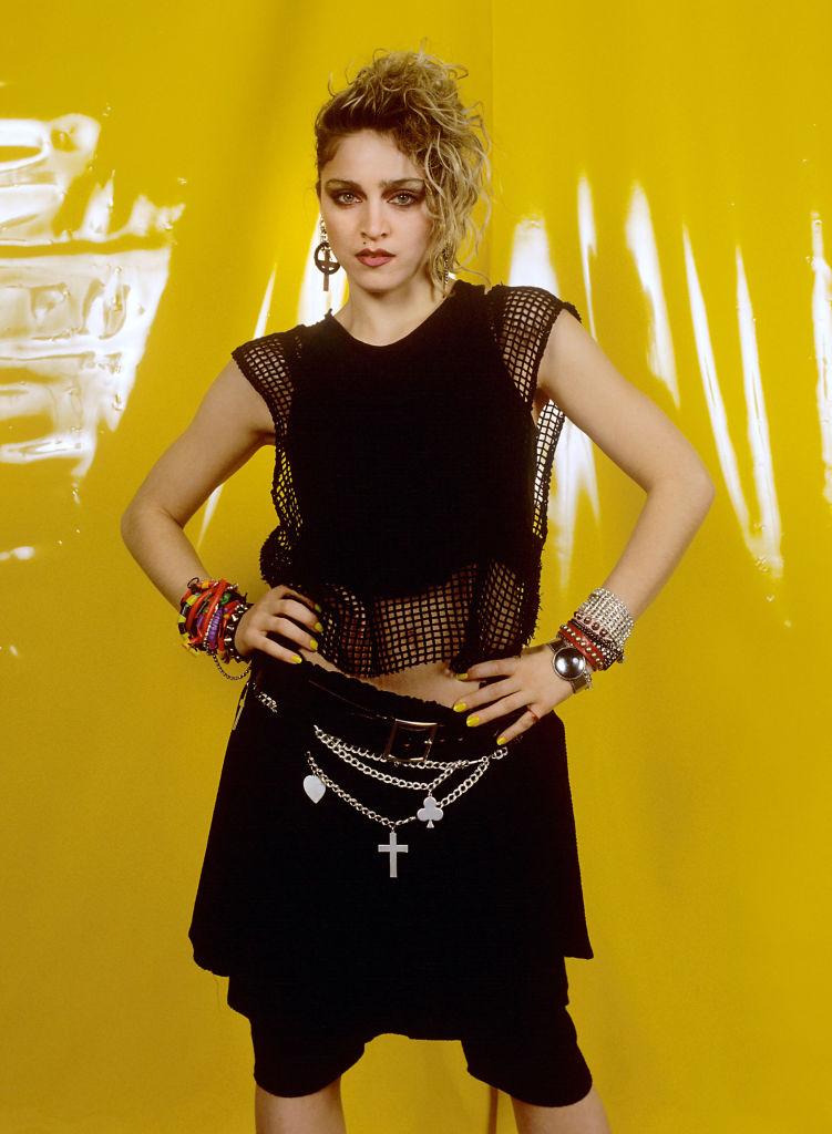 Madonna a híres hálós crop topban