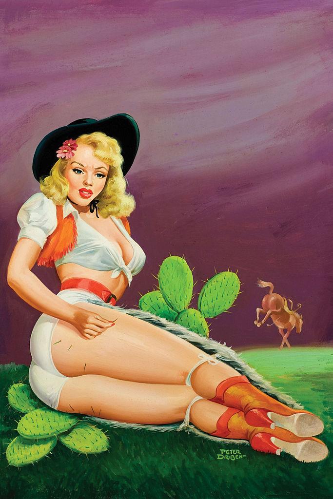Pin up girl egy 1951-es illusztráción