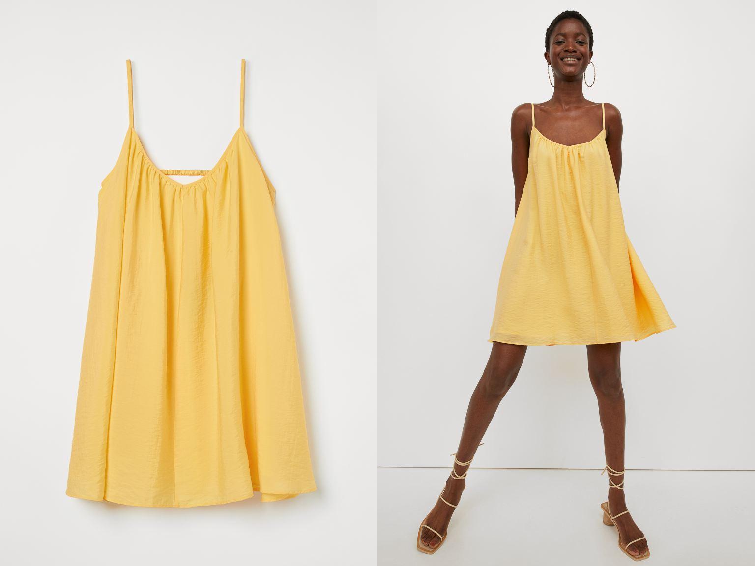 H&M sárga mini ruha