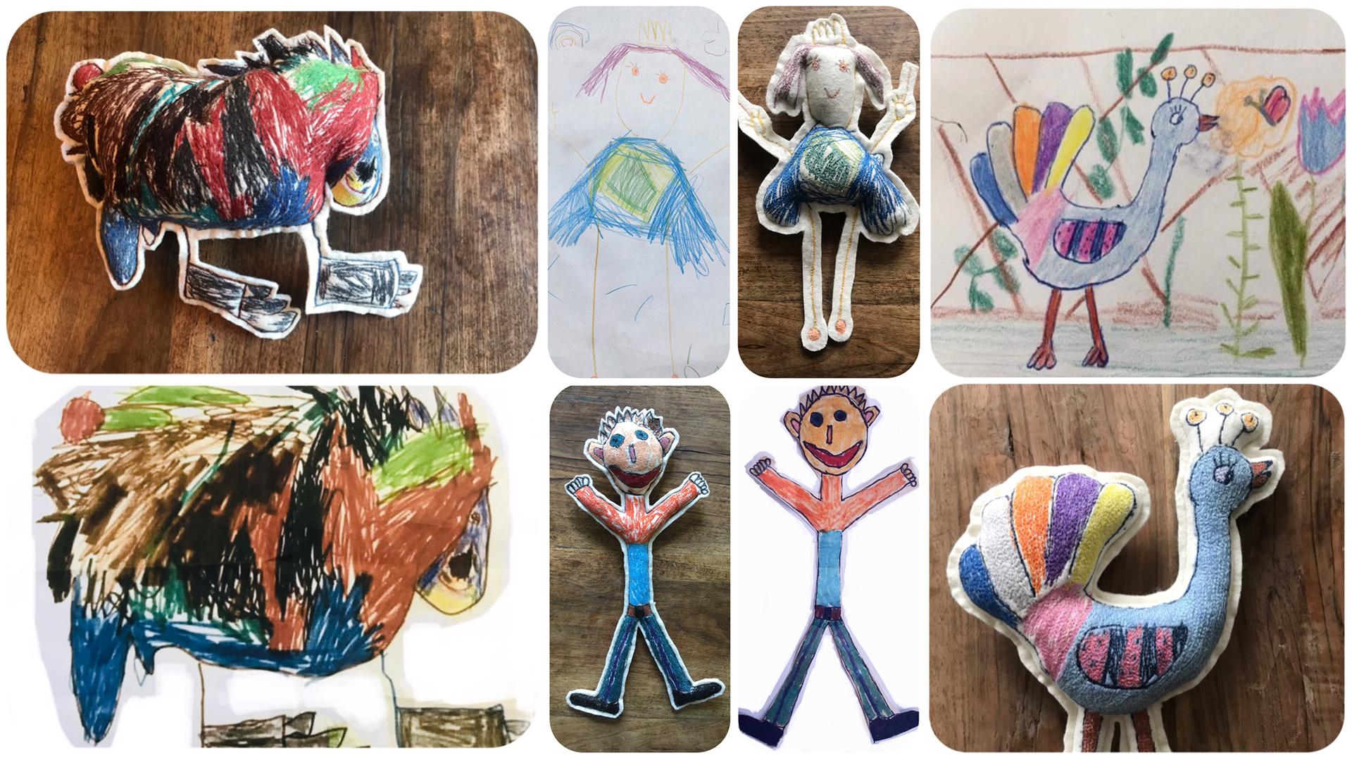 A gyerekek rajzolnak, Bori pedig babát készít belőlük