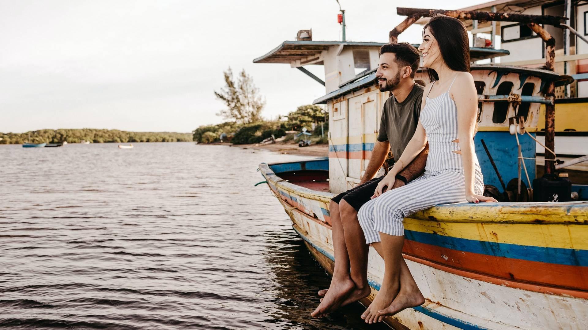 szerelmespár hajón