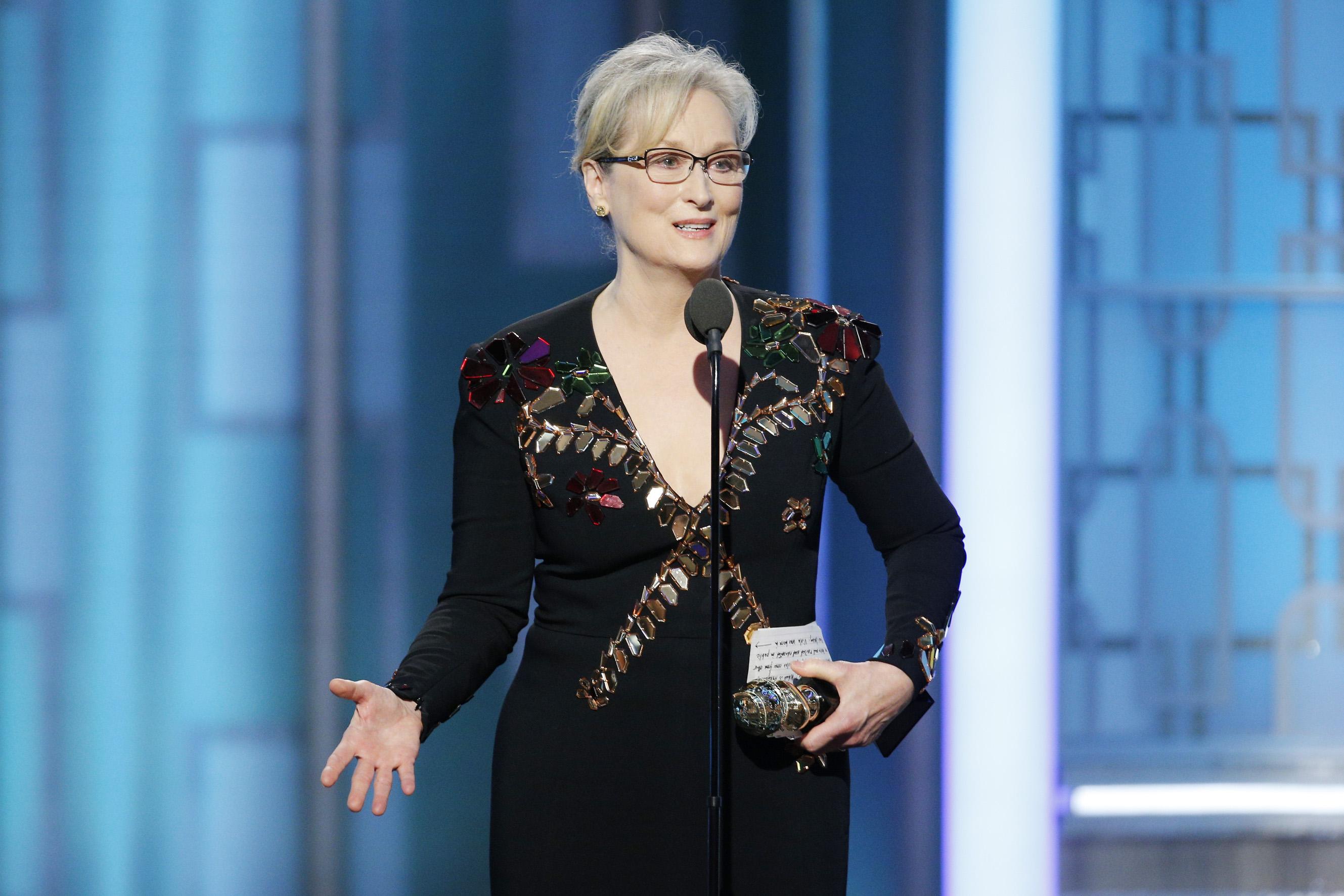 Meryl Streep 2017 Golden Globe