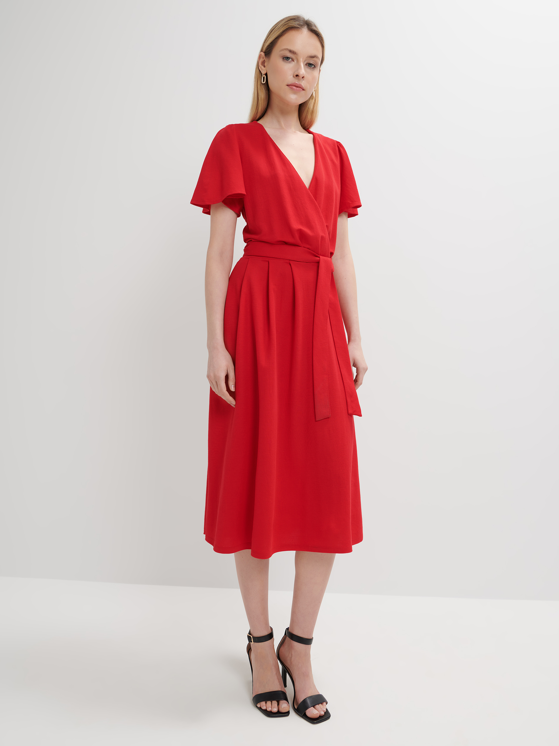 Mohito piros átlapolós ruha