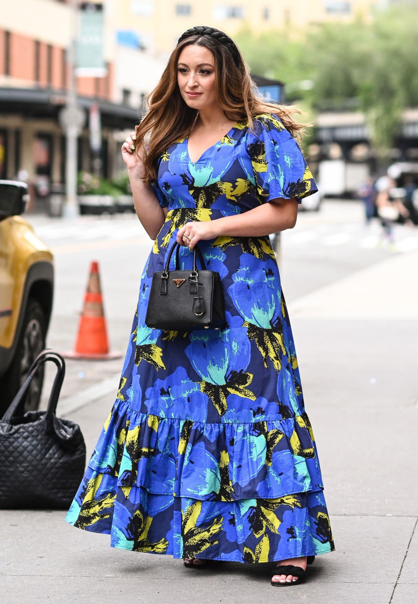 Virágos maxi ruha - street style