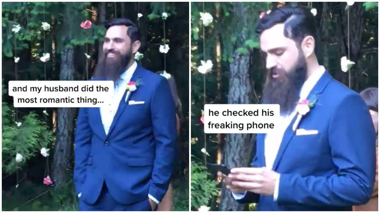 Elővette a telefonját a vőlegény az esküvő legszebb része közben
