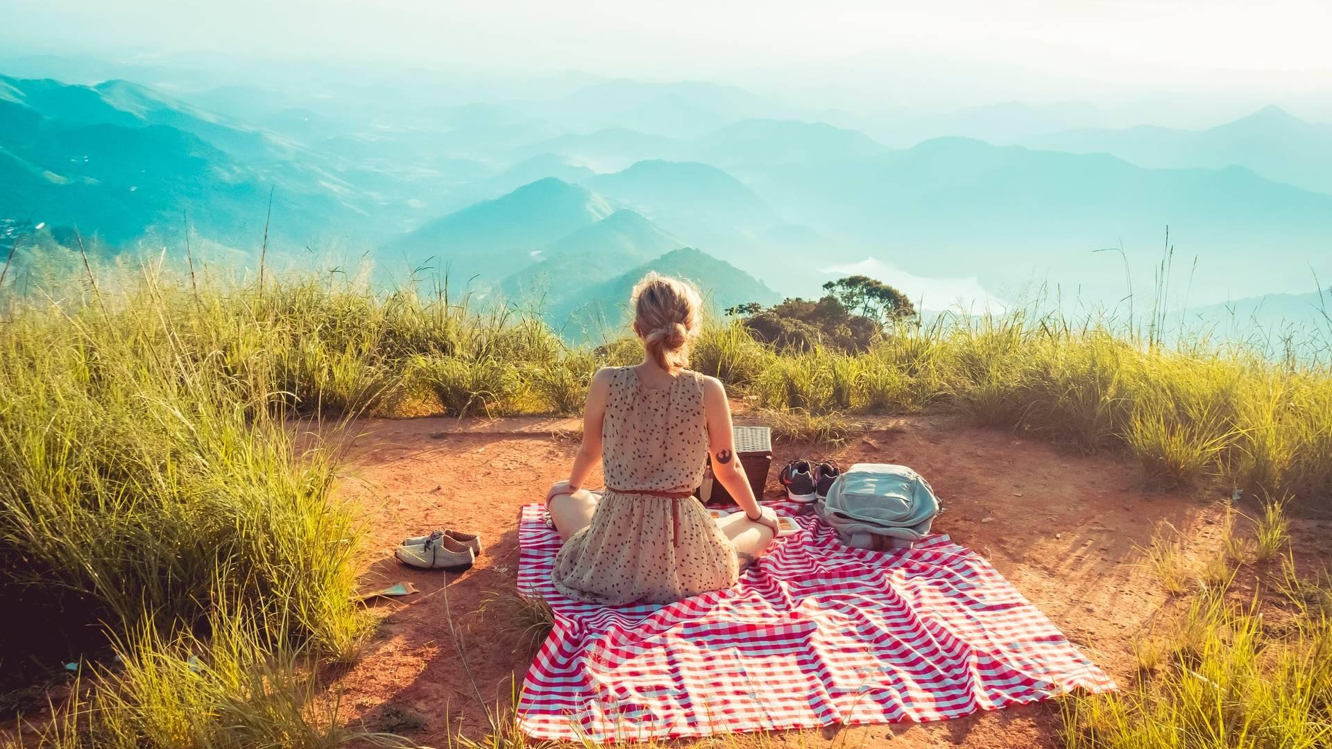piknik a hegyen