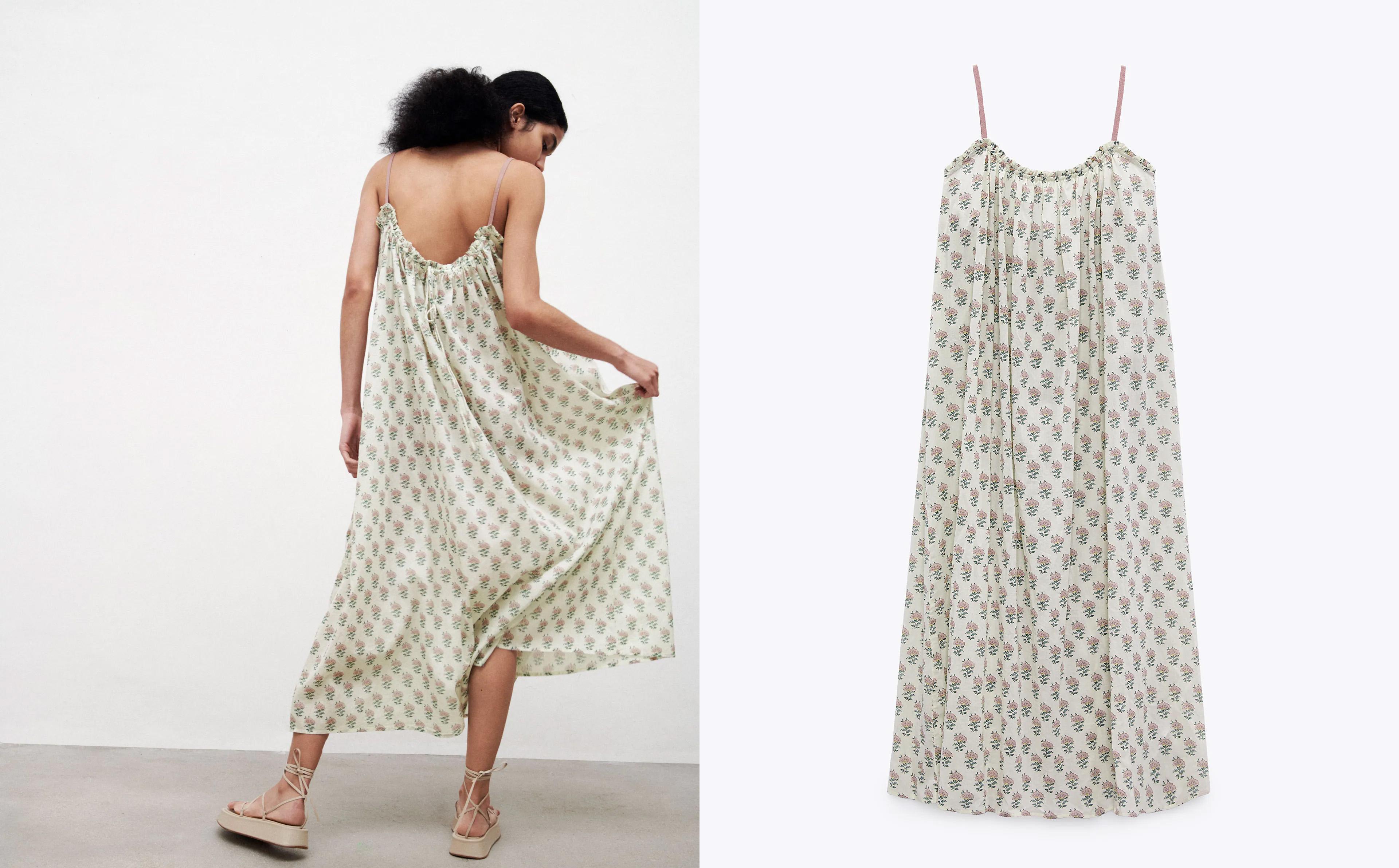 Zara mintás ruha