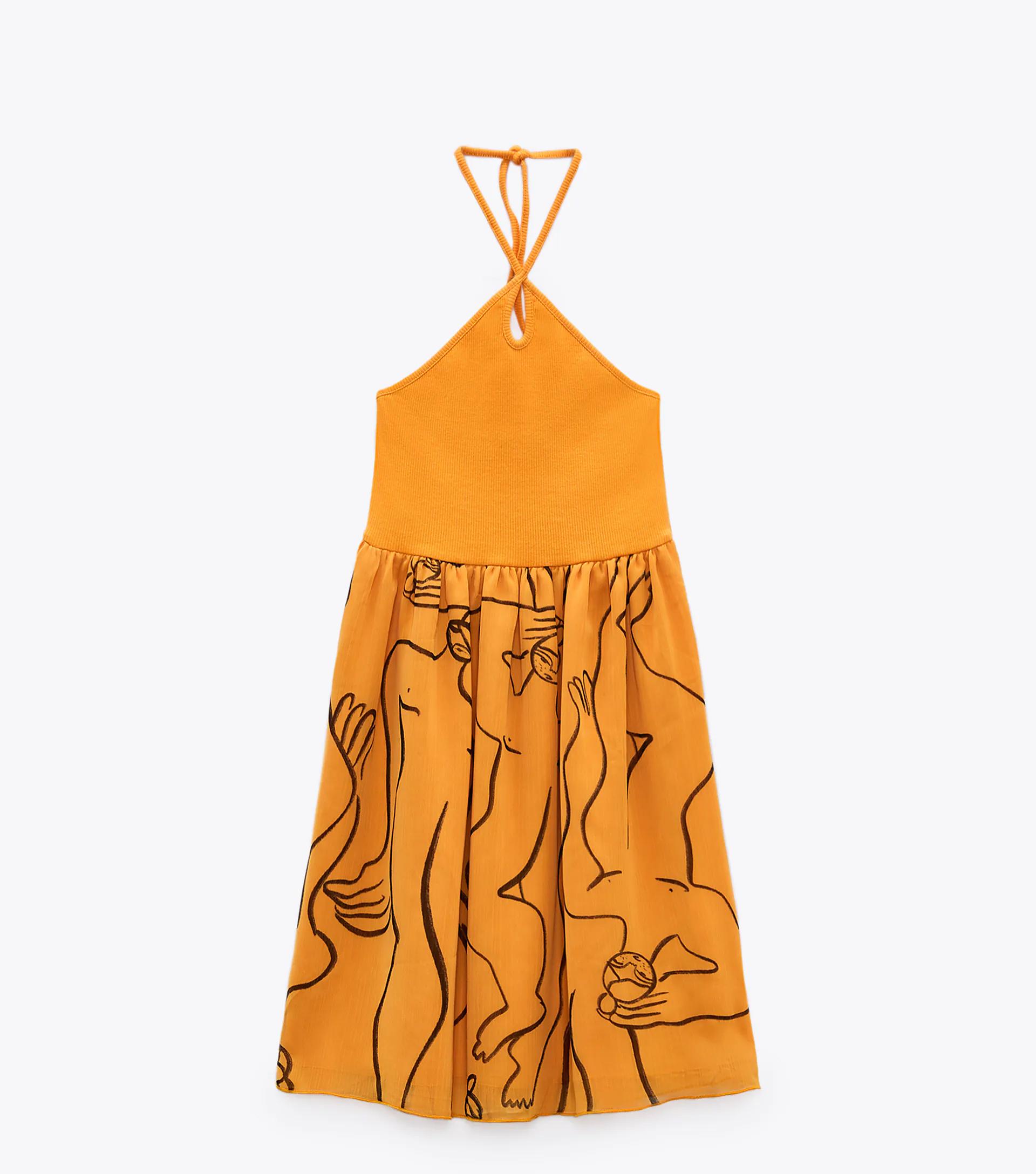 Zara sárga miniruha