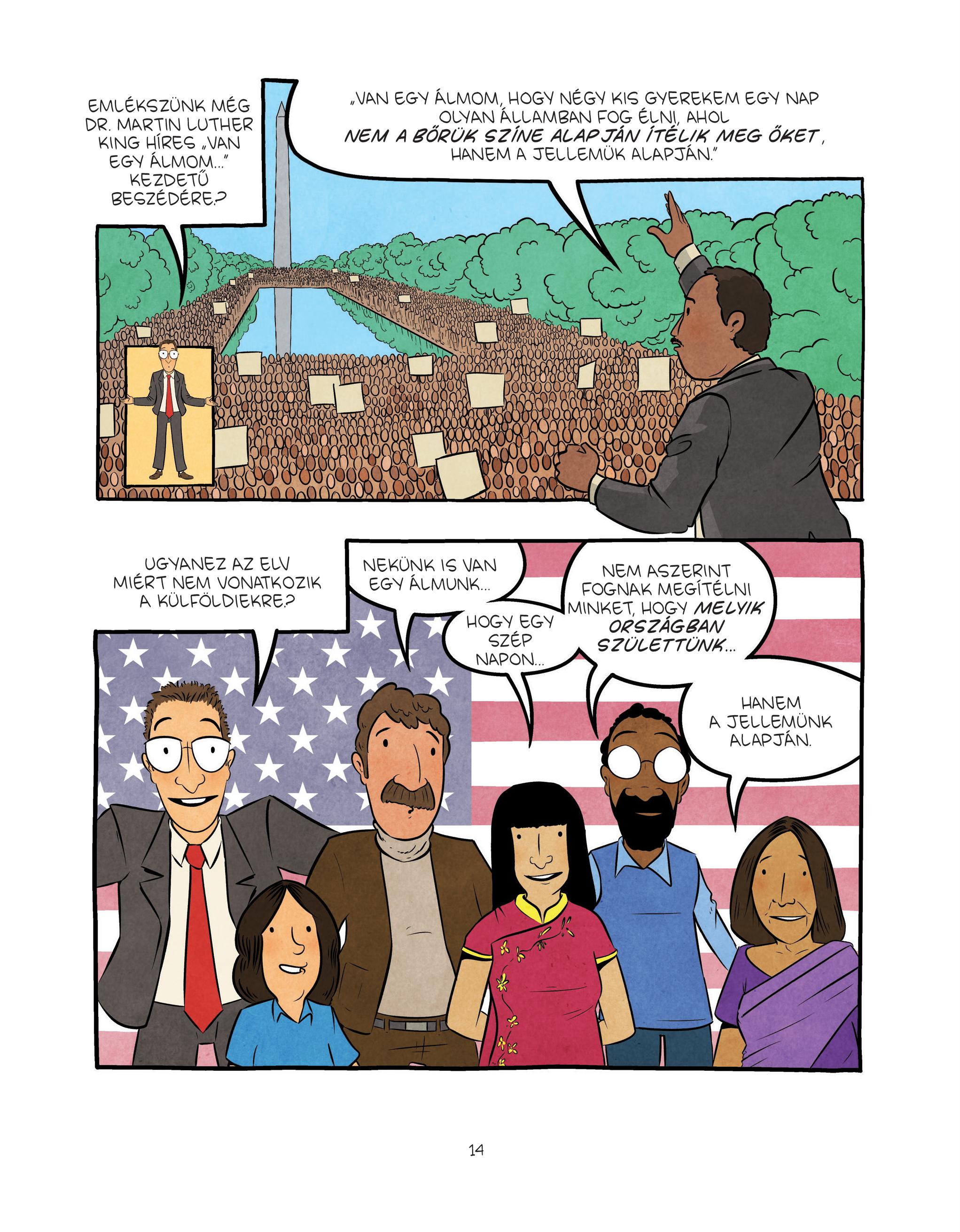 Olvas sképregényt a bevándorlásról