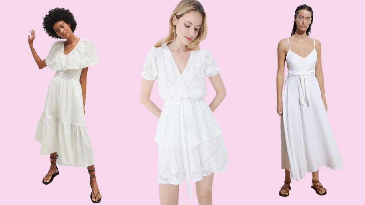 Fehér nyári ruhák