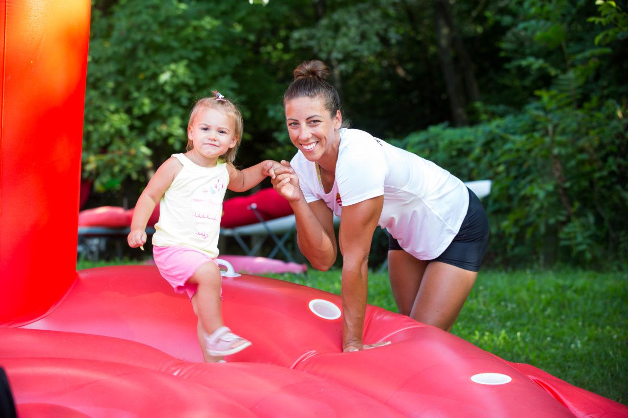 Csipes Tamara és kislánya