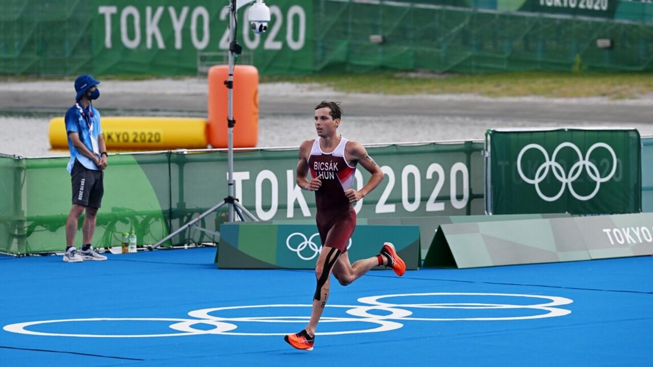 Történelmi legjobbal Bicsák Bence hetedik lett a férfi triatlonosok versenyében