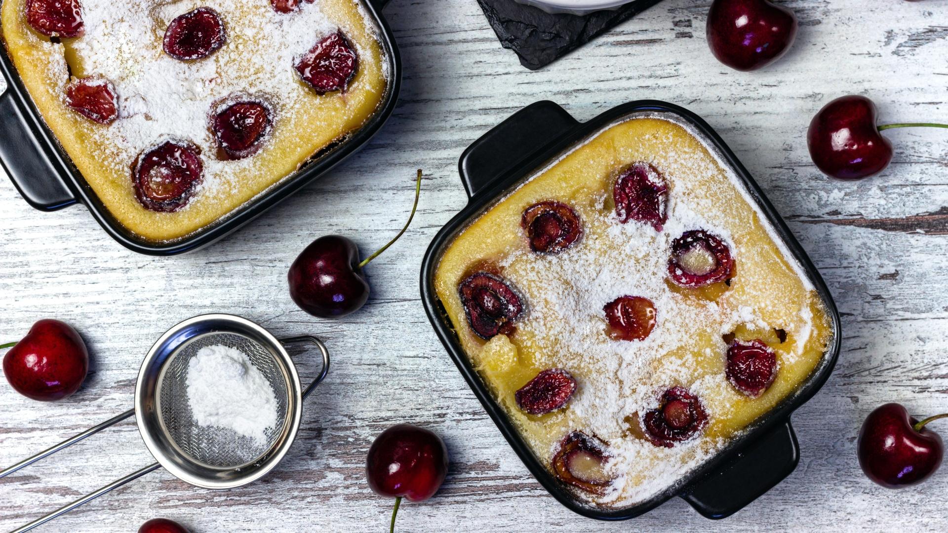 Egyszerű cseresznyés süti
