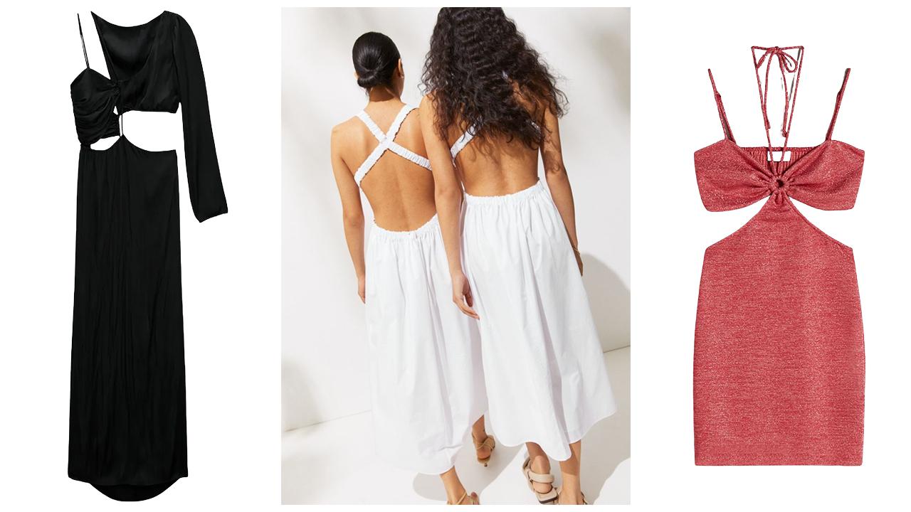Cut out ruhák: Zara, H&M, Bershka