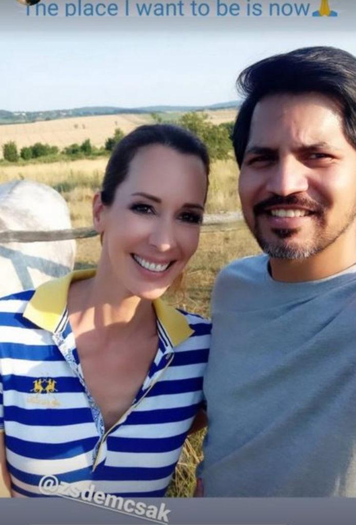 Demcsák Zsuzsa és férje, Krishan a Farm VIP 2 forgatásán