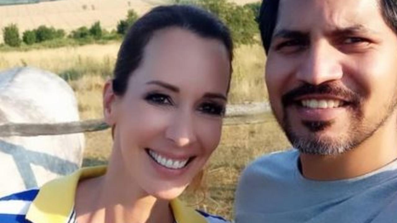 Demcsák Zsuzsa és férje, Krishan