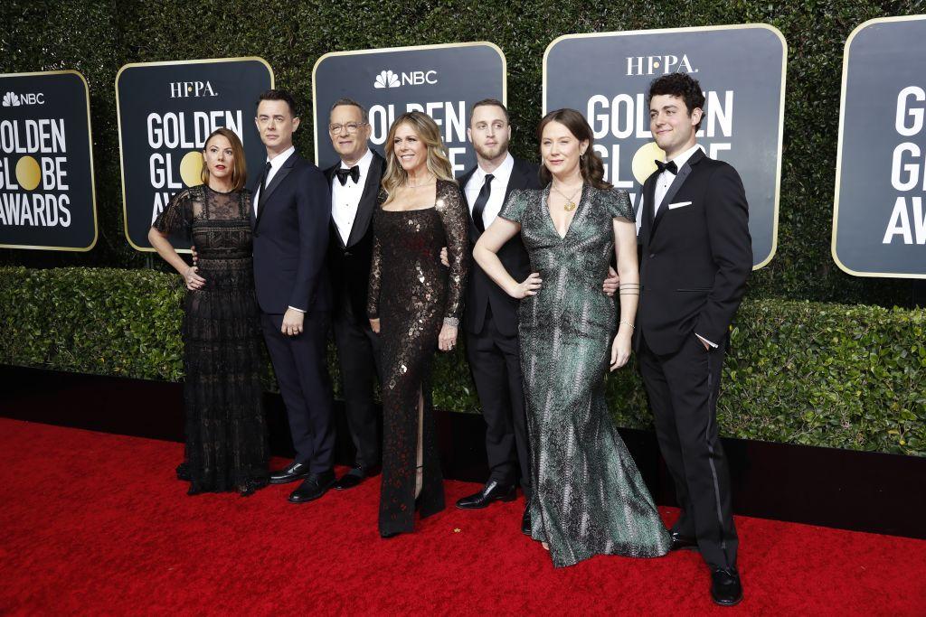 Samantha Bryant, Colin Hanks, Tom Hanks, Rita Wilson, Chet Hanks, Elizabeth Ann Hanks, és Truman Theodore Hanks