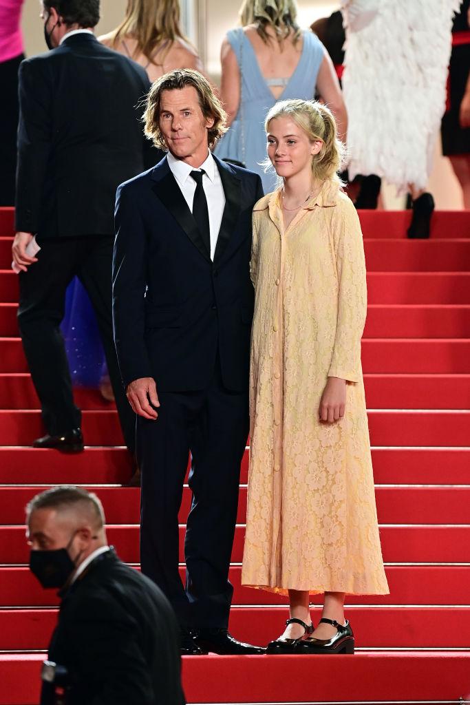 Danny Moder és lánya, Hazel Moder a Flag Day vetítése előtt Cannes-ban