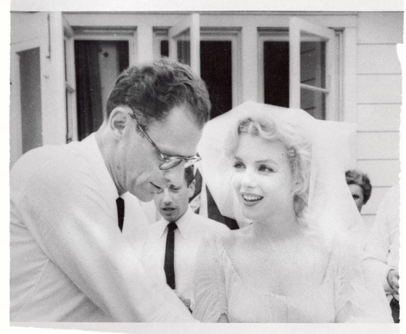 Arthur Miller és Marilyn Monroe esküvője