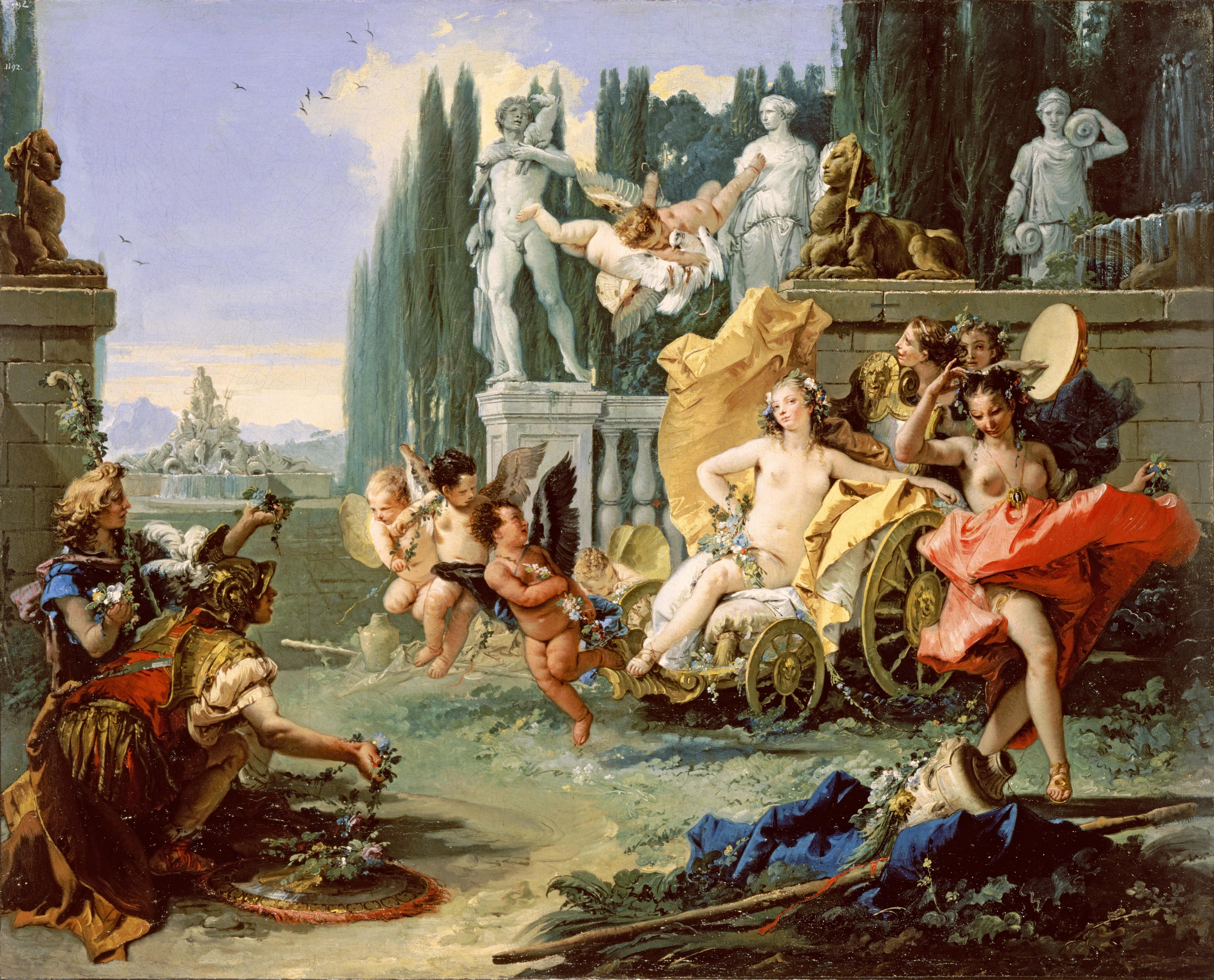 Prostituáltak egy római tavaszünnepen, Giovanni Battista Tiepolo festményén (forrás: Wikipedia)
