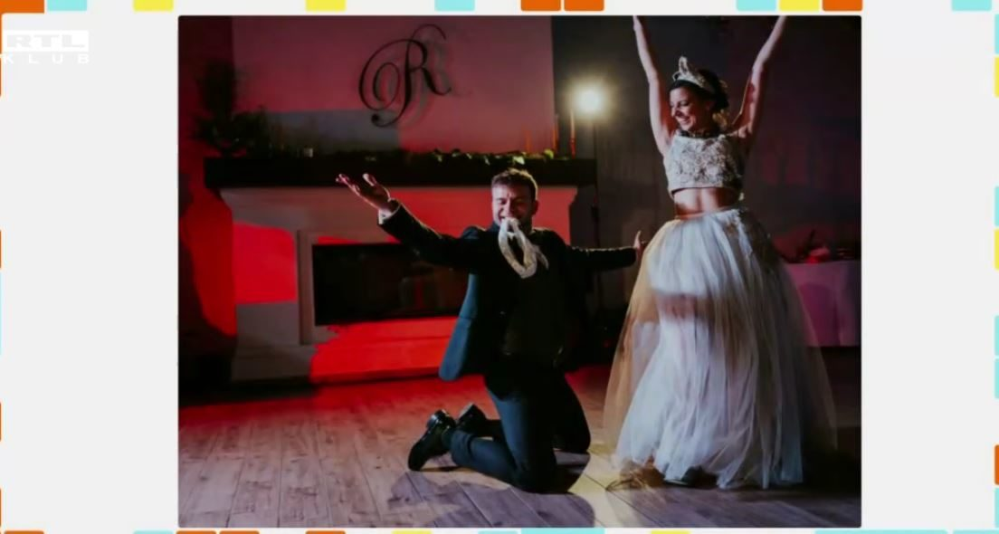 Gonda Kata lábáról a legényfogót húzza le a férje, Kenderes Csaba az esküvőn - mesélte az ifjú pár