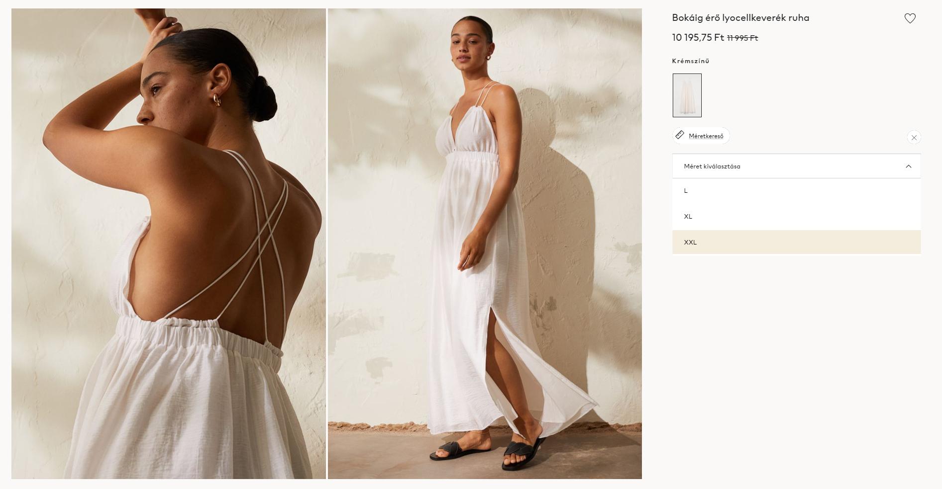 Nagy méret van, de vajon a ruha szabása megfelelő?