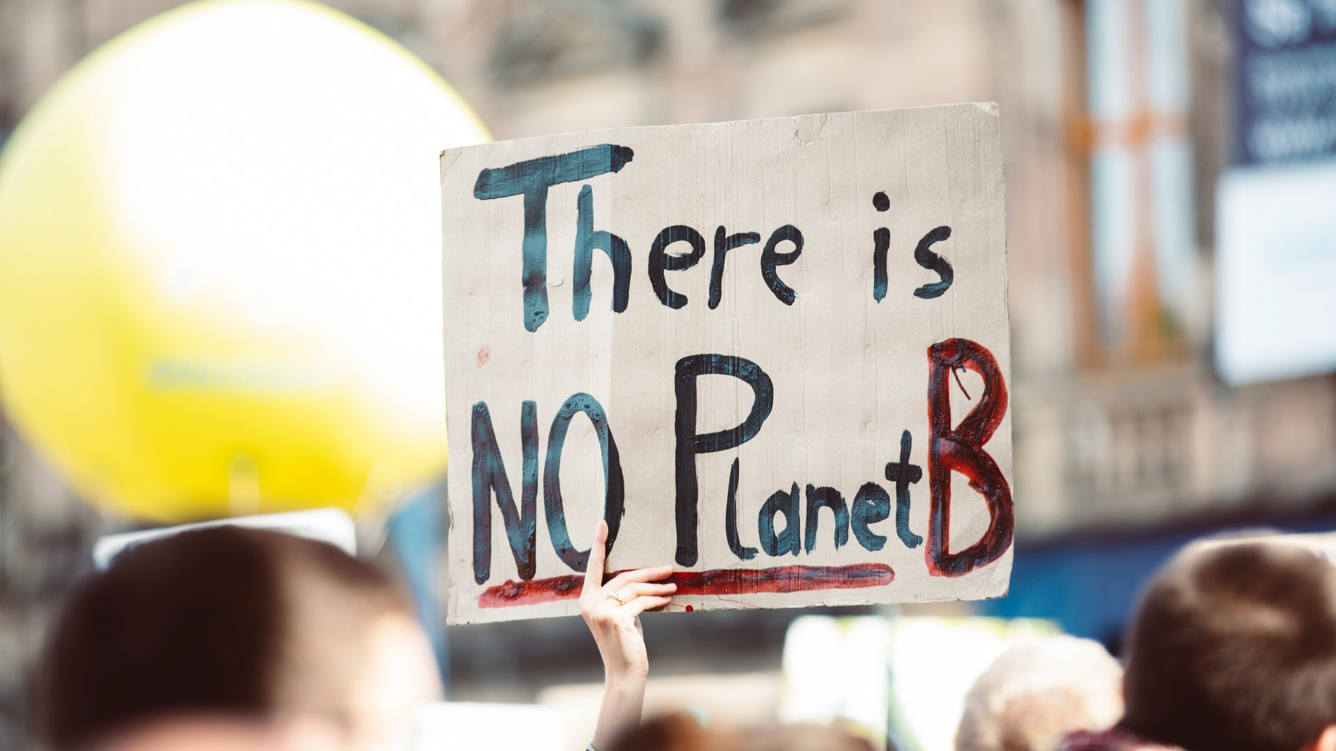 Klímaváltozás transzparens