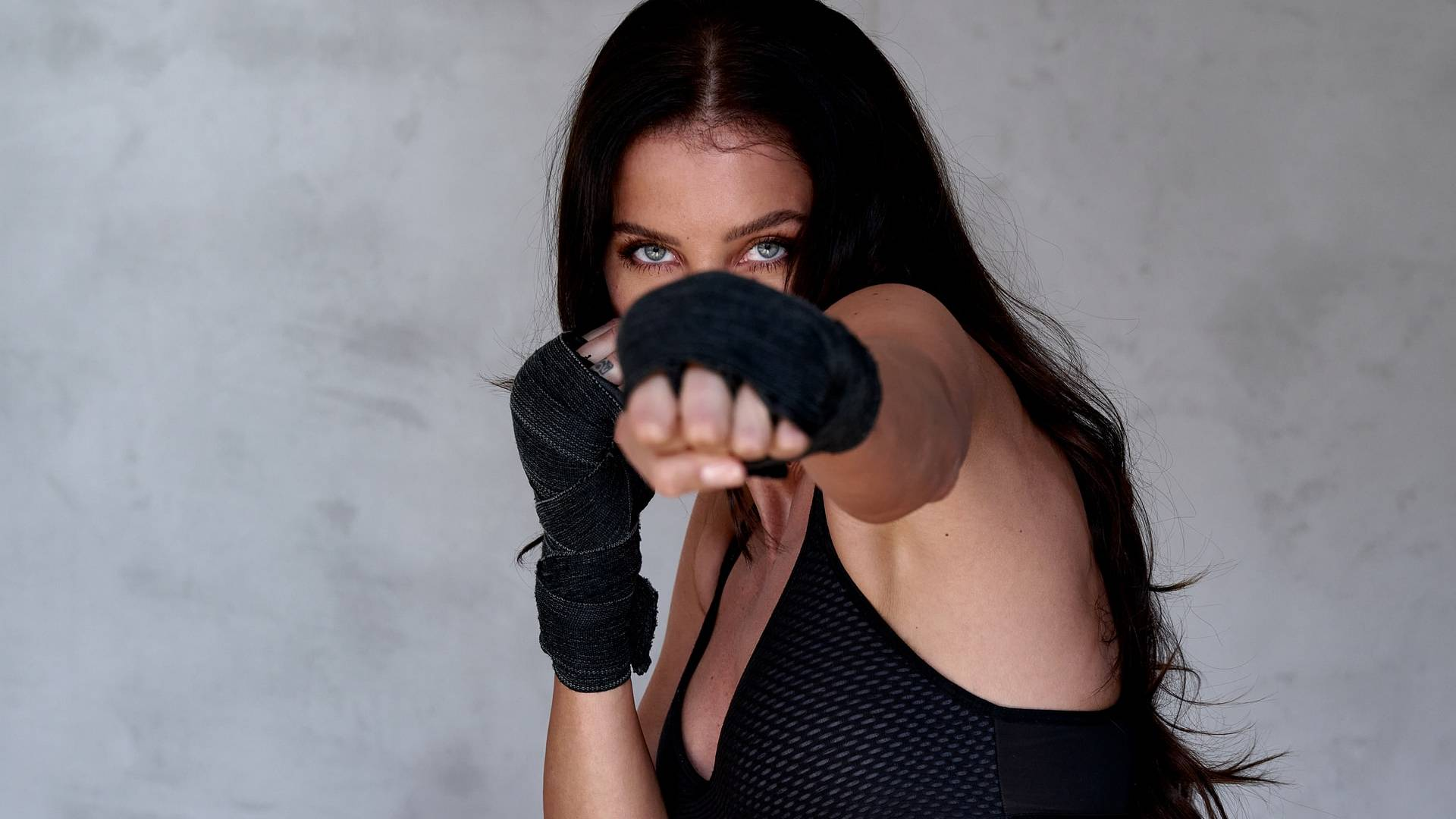 boxoló nő