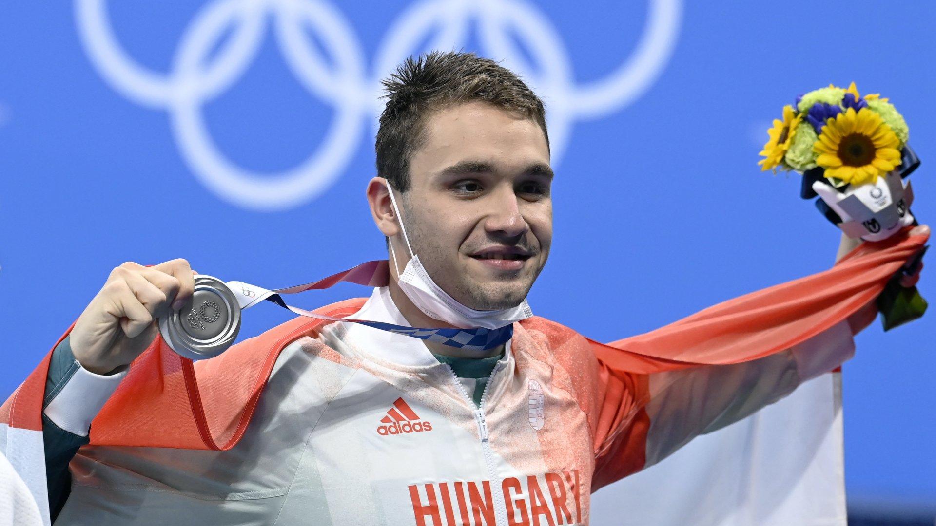 Milák Kristóf ezüstérmes 100 méter pillangón