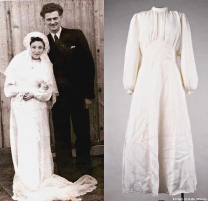 Német katona ejtőernyőjéből varrta menyasszonyi ruháját