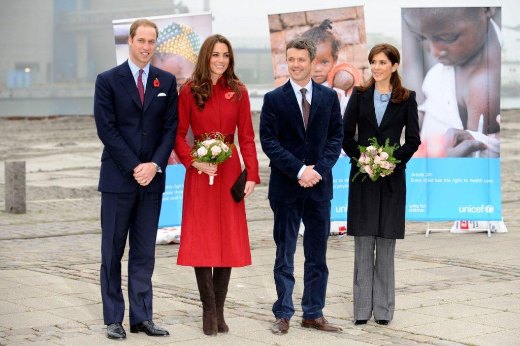 Vilmos herceg, Katalin hercegné, Frigyes koronaherceg és Mária hercegné