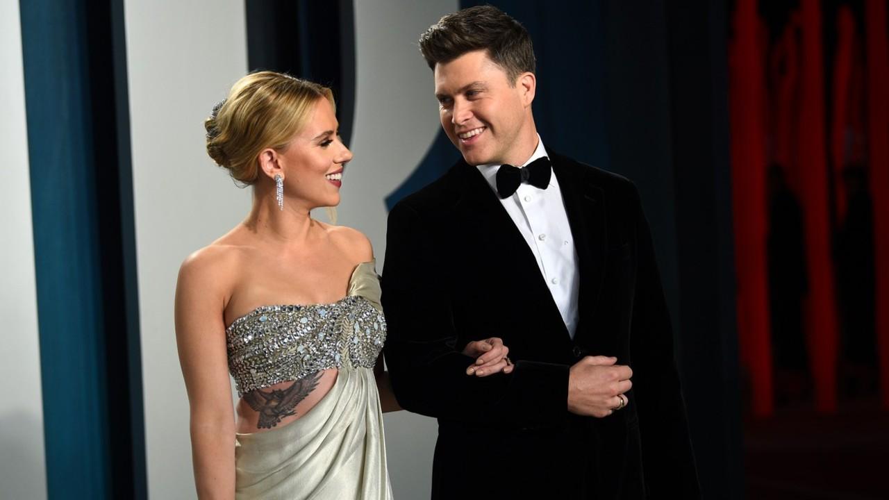 Scarlett Johansson és Colin Jost 2020 elején (fotó: Profimédia)