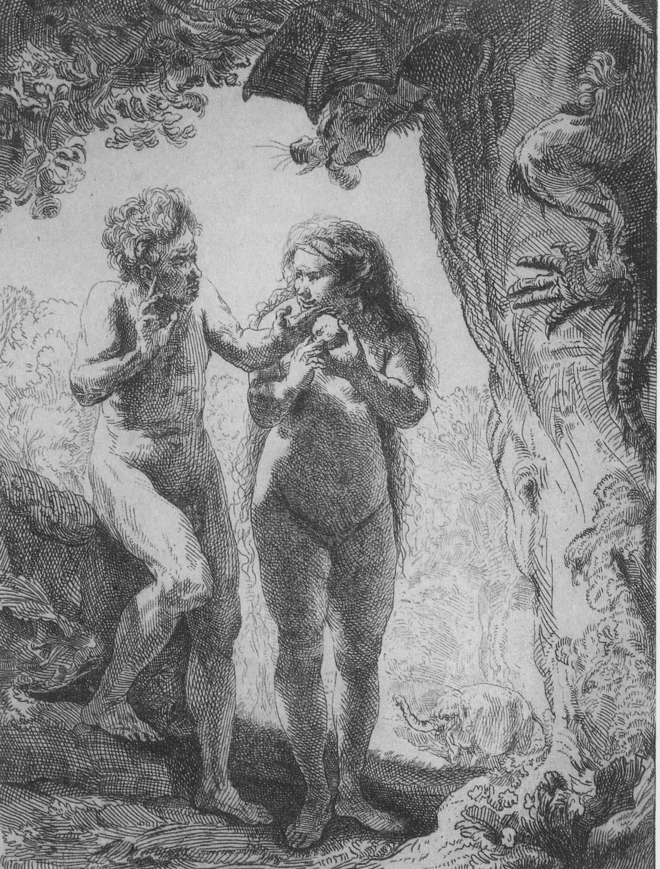 Ádám, Éva és Hansken (forrás: Wikipedia)
