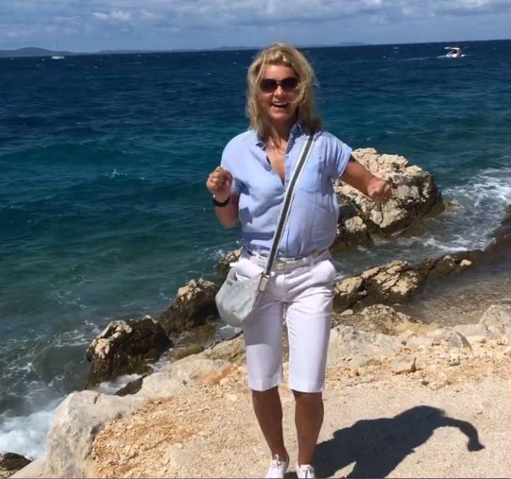 Barta Sylvia boldog volt, amikor megérkezett a tengerhez