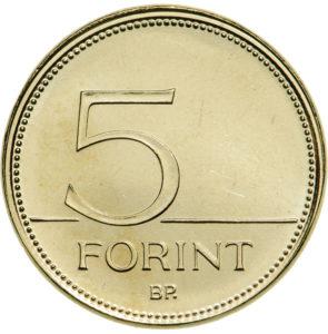 Új 5 forintos érméket bocsátottak ki