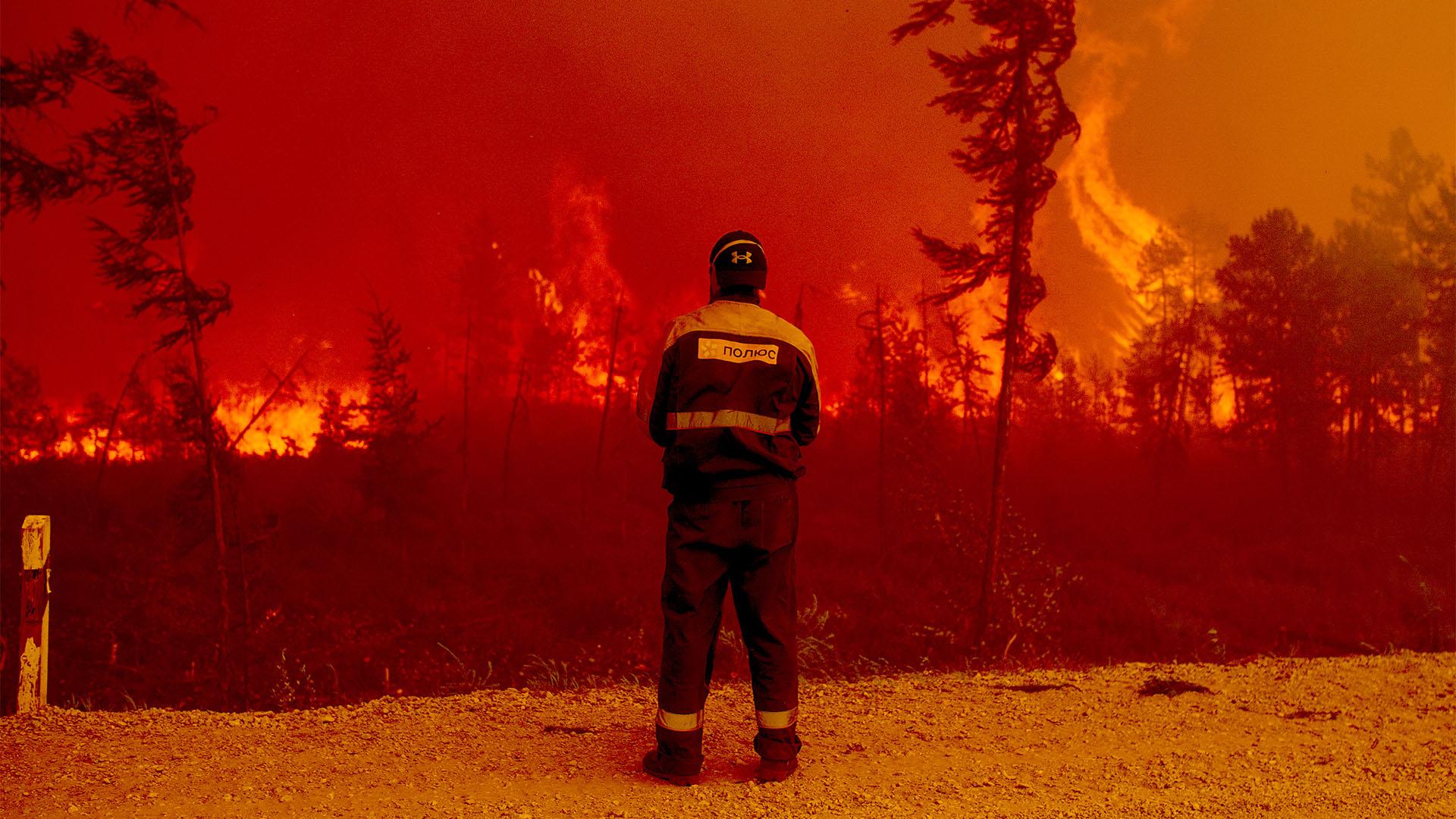 Irtózatos erdőtűz pusztít Oroszországban