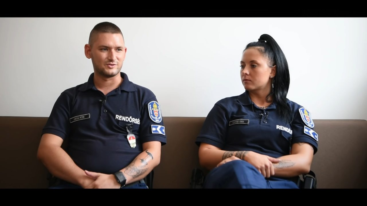 járőrpáros, rendőrök