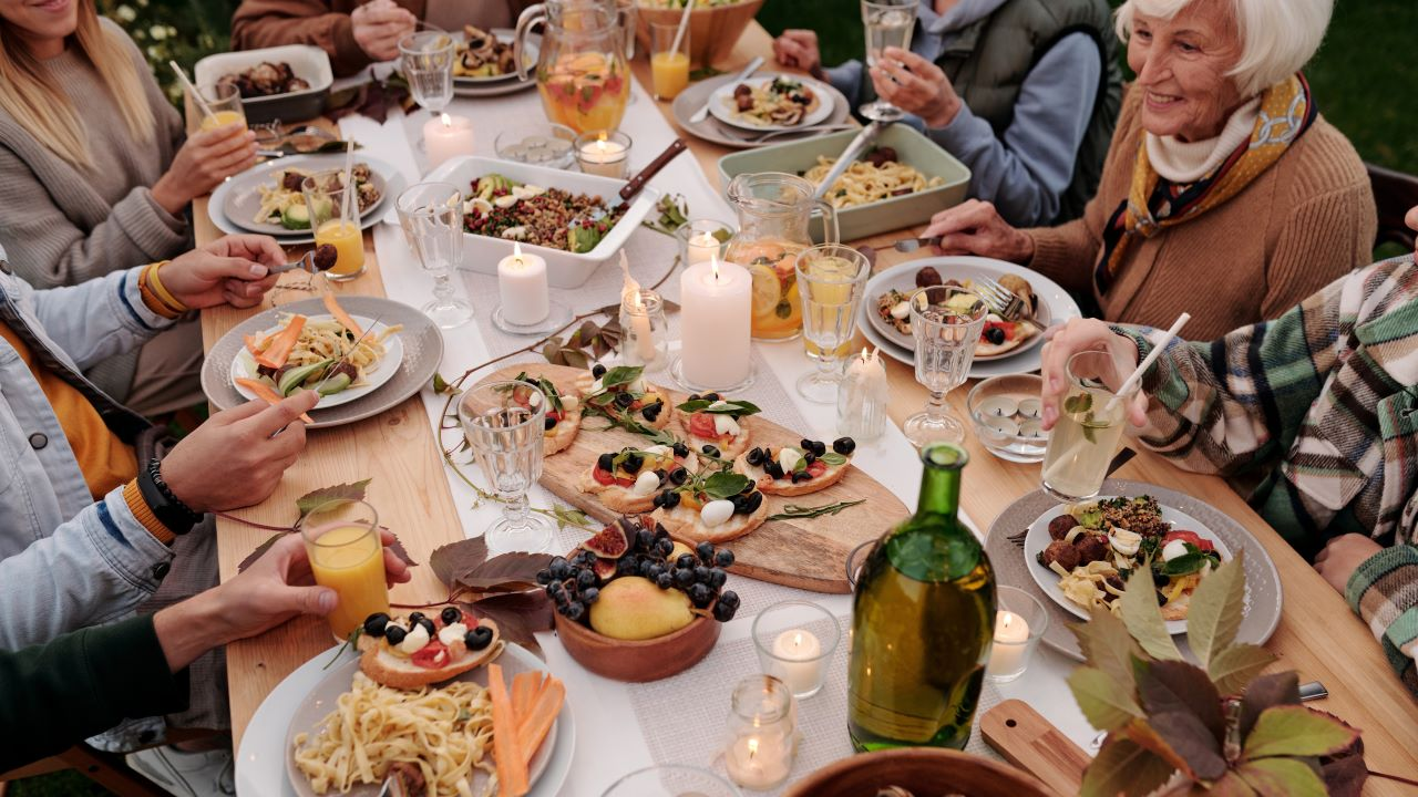 vacsora, eslüvő, menü