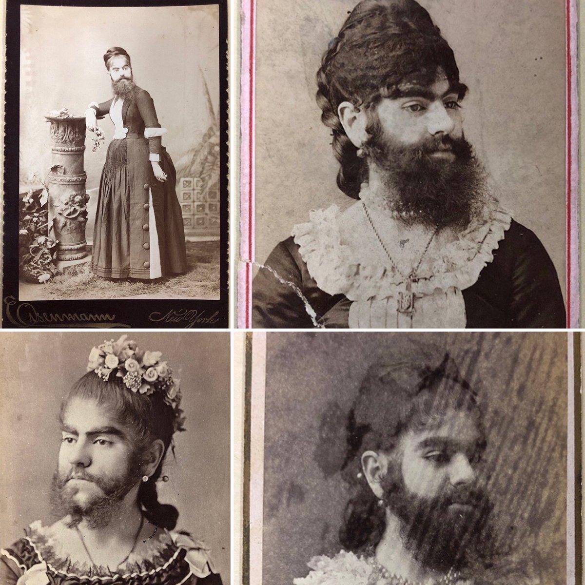 Annie Jones, Amerika vezető szakállas hölgye (fotók: twitter)