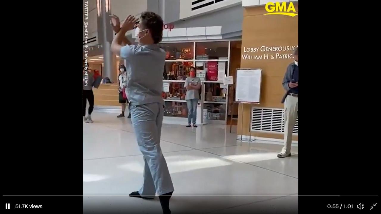 Rögtönzött balett-előadás a kórházban