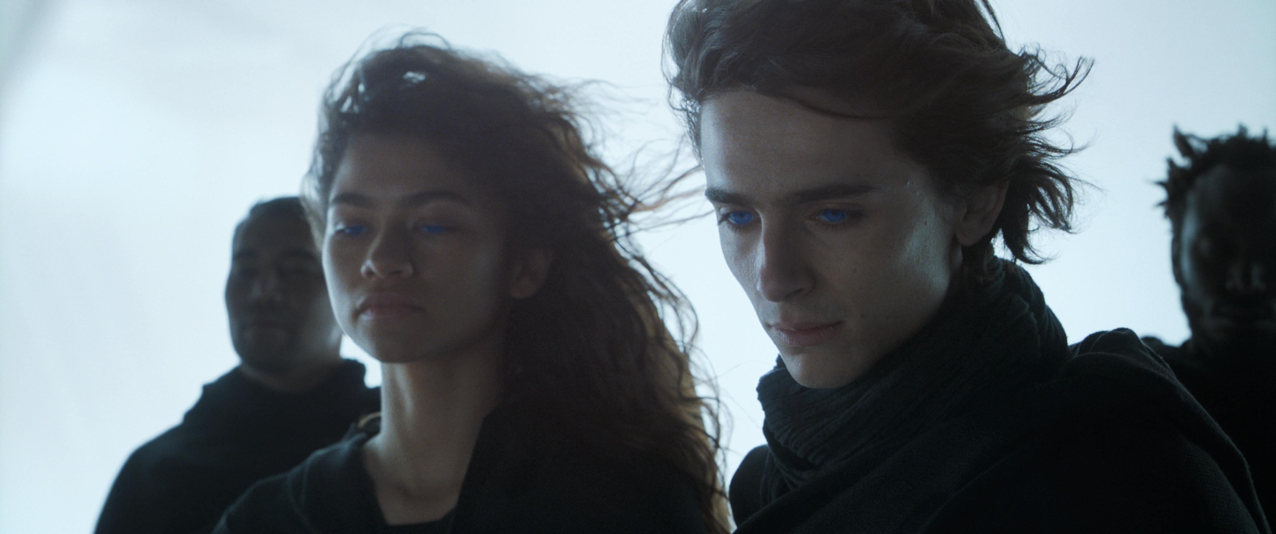 Timothée Chalamet és Zendaya a Dűnében (fotó: InterCom)