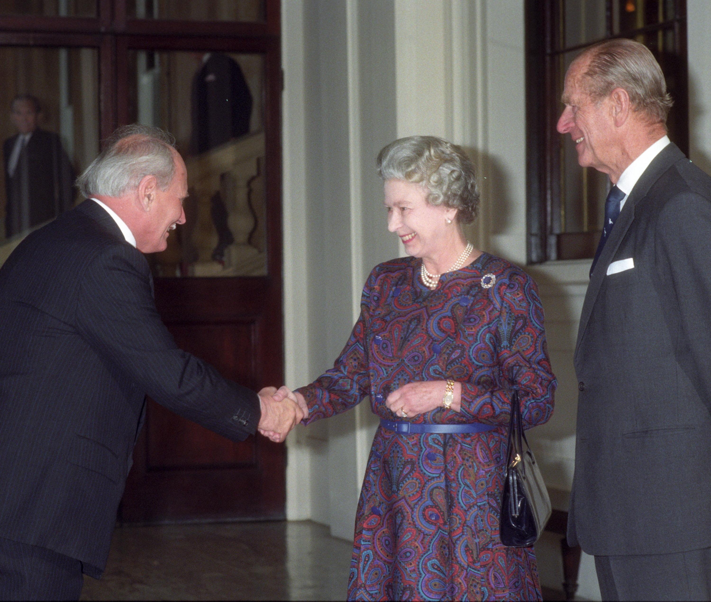 Göncz Árpád és II. Erzsébet királynő