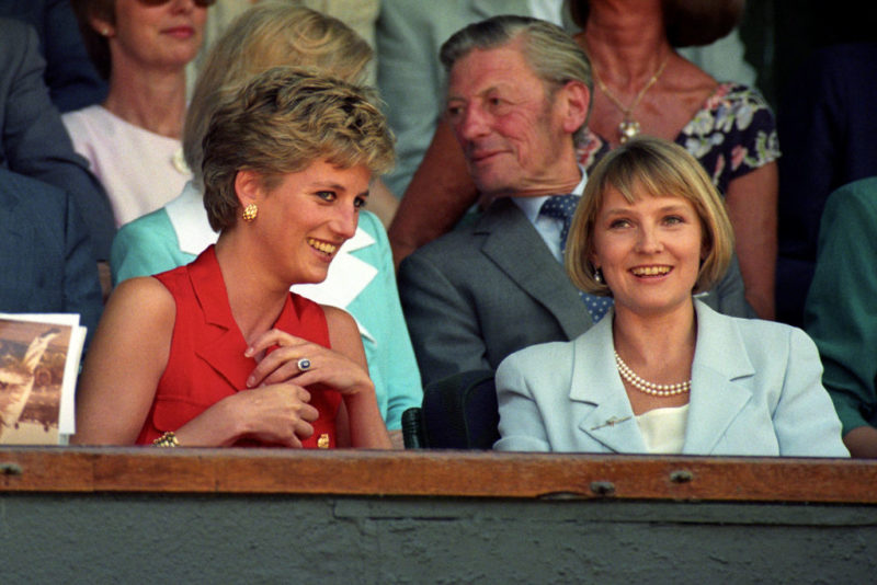Diana hercegnő és Julia Samuel